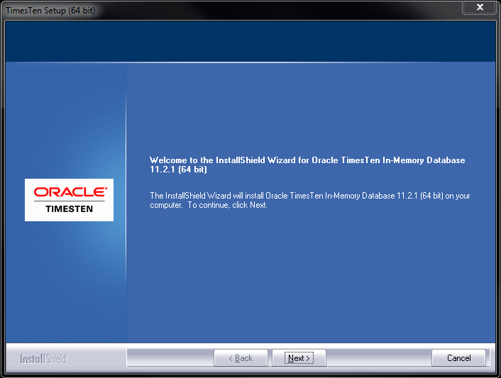 Installing the Oracle TimesTen In-Memory Database 11g (11 2
