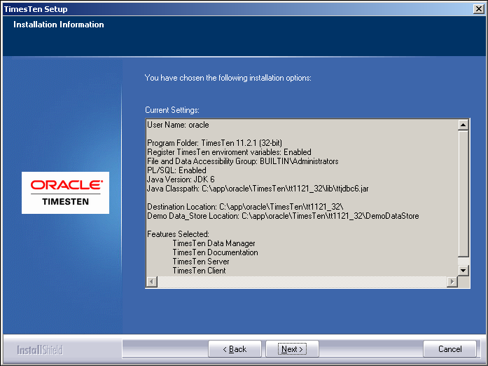 Connect to an Oracle TimesTen In-Memory Database using Java and JDBC