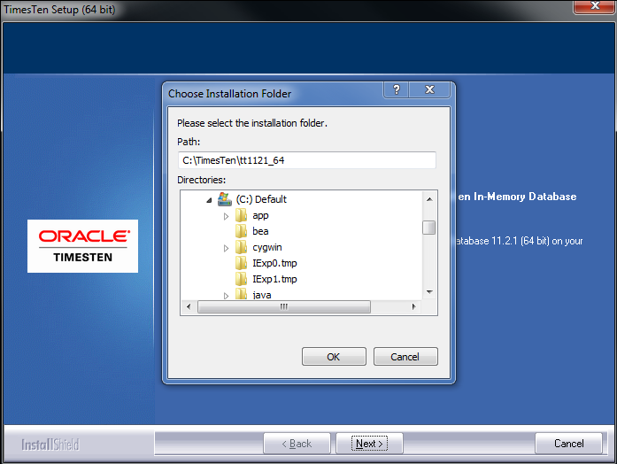 Installing the Oracle TimesTen In-Memory Database 11g (11 ...