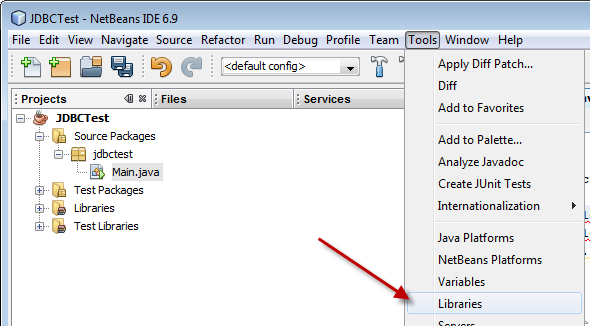 Adding Java Libraries to Netbeans 6 9