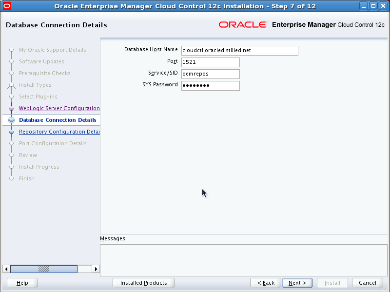 Installing Oracle Enterprise Manager Cloud Control 12c ...
