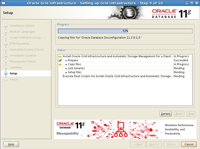 Install Oracle Grid Infrastructure 11gR2 with ASM on Standalone Server